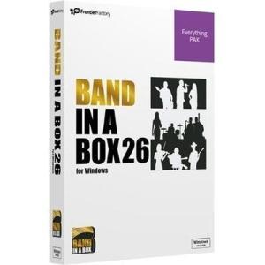 【納期目安:1週間】フロンティアファクトリー PGBBQEW111 Band-in-a-Box 26 for Windows EverythingPAK|dentarou