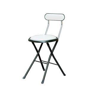 <title>ds-2154383 折りたたみ椅子 同色6脚セット ホワイト×ブラック ラッピング無料 幅33cm 日本製 スチールパイプ 代引不可 ds2154383</title>