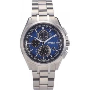4974375442351 シチズン アテッサ ダイレクトフライト ソーラーメンズ電波腕時計 ブルー dentarou