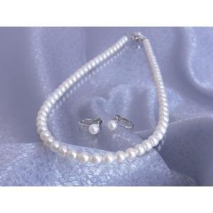 売り出し 納期目安:1週間 2424215000644 パール コウベ あこや本真珠ネックレス のし可 公式ショップ イヤリングセット ホワイト 包装