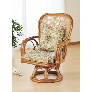 買物 納期目安:1週間 現金特価 4945052115707 籐ハイバック回転座椅子