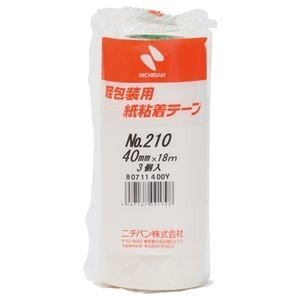 <title>ds-2180852 まとめ ニチバン 紙粘着テープ 210-40 白 40mm×18m 3巻 ×30セット ds2180852 入手困難</title>