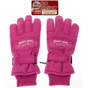 W/G SP-220-PWM 【婦人用】 スキー5指手袋 W/G SP-220 桃色 サイズW/M (桃色サイズ:W/M) (SP220PWM)|dentarou
