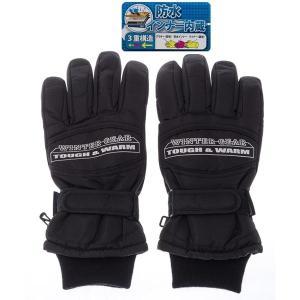 W/G SP-200-BKL 【紳士用】 スキー5指手袋 W/G SP-200 黒色 サイズ=L (黒色サイズL) (SP200BKL)|dentarou