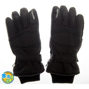 W/G SP-100-BKLL メンズ スキー スノボー グローブ 黒色 サイズLL 手囲=27cm (SP100BKLL) dentarou