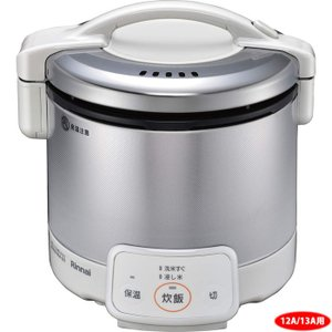 <title>納期目安:1週間 リンナイ 25%OFF RR-030VQ W -12A13A 3合 ガス炊飯器 こがまるVQシリーズ グレイッシュホワイト 12A13A都市ガス用 RR030VQ 12A13A</title>