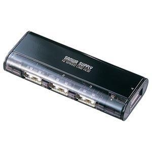 ds-2220472 まとめ サンワサプライ 磁石付きコンパクトUSB2.0ハブ 4ポート USB-HUB225GBK ×5セット 1個 ブラック ds2220472 特別セール品 販売期間 限定のお得なタイムセール