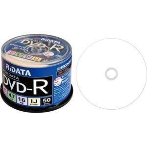 ds-2224709 RiDATA データ用DVD-R4.7GB 1-16倍速 ブランド品 ホワイトワイドプリンタブル B1パック D-R16X47G.PW50SP 50枚 送料無料 一部地域を除く ×10セット スピンドルケース