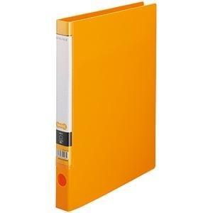 ds-2232806 まとめ TANOSEE 最新 OリングファイルA4タテ 2穴 150枚収容 ×10セット 1セット オレンジ 10冊 背幅32mm 店内全品対象 ds2232806