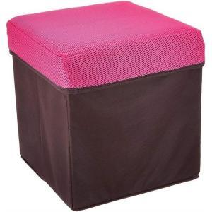 ウィキャン 4589798080280-20 座れる収納ボックス 正方形 新作 人気 BOXスツール ピンク WJ-8028 20個セット 沖縄 離島配達不可 信頼