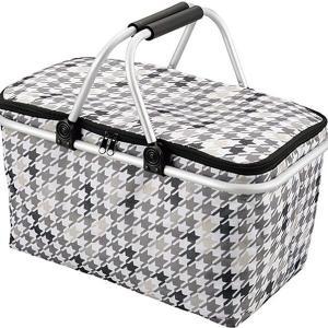 ●バスケット型の保冷ショッピングバッグ。