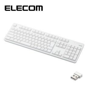 エレコム TK-FDM106TWH 無線キーボード/メンブレン式/フルサイズ/ホワイト (TKFDM106TWH)|dentarou