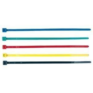 ds-2304370 ケーブルタイ カラー5色長さ101mm 5色 ブルー グリーン 送料無料でお届けします 希少 レッド 50本:各色10本 1パック イエロー ブラック CA-612 ×50セット