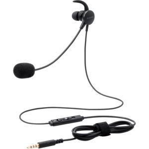 エレコム HS-EP16TBK ヘッドセット 片耳 有線 イヤホン マイクアーム 付 イヤホンジャック 3極 4極 接続 ブラック|dentarou