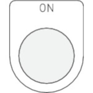 アイマーク P22-5 「IM 押ボタン/セレクトスイッチ(メガネ銘板) ON 黒 φ22.5」|dentarou