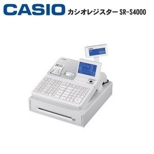 ds-2403497 カシオ レジスター SR-S4000-20S Bluetoothレジ ホワイト (ds2403497)|dentarou