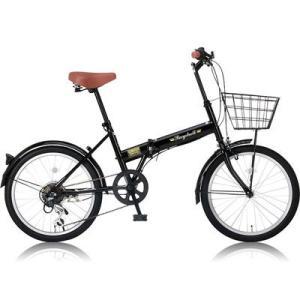 【納期目安:01/中旬入荷予定】レイチェル OTM-24212 カゴ/泥除け標準装備・カギ/ライトが付属した20インチ折りたたみ自転車 FB-206R ブラック|dentarou