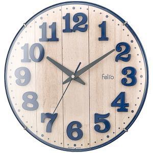 【納期目安:1週間】Felio FEW181-NB-Z カラーズクロック「ブリュレ」(ネイビーブルー) (FEW181NBZ)|dentarou