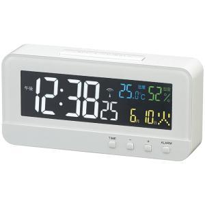 【納期目安:1週間】MAG T-684-WH 交流式デジタル時計「カラーハープ」(ホワイト) (T684WH)|dentarou
