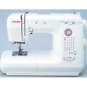 ジャノメ 670R 【代引きOK!今ならカラー糸40ケセットもれなくプレゼント】電子ミシン(755BL2)[IM5]|dentarou