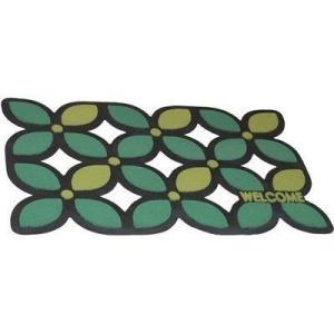 山崎産業 4903180157242 玄関マット 屋外 コンドル ソフテップマット ハッピーリーフ #3 グリーン 75×45cm (エントランスマット)|dentarou