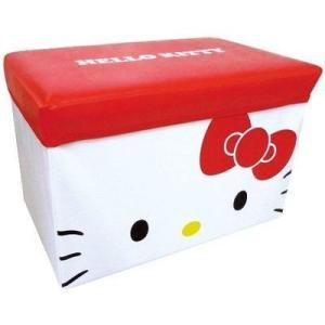 ティーズファクトリー 4548626010141 座れる 収納ボックス ハローキティ ( おかたづけ ボックス 収納 スツール)|dentarou