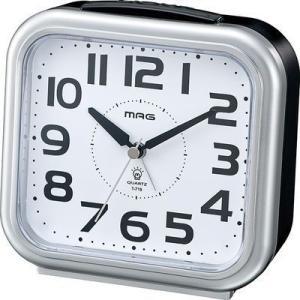 【納期目安:1週間】MAG T-719-SM-Z 電子音アナログ目覚まし時計「アップタイム」 (T719SMZ)