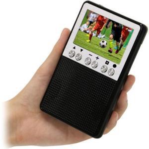 エスキュービズム APR-02B 3インチ液晶ポータブルワンセグTV/FM・AMラジオ (APR02B)|dentarou