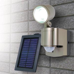 ELPA センサーライト 屋外 LED ソーラー 人感/防雨センサーライト [LED×1灯] 防雨 ...