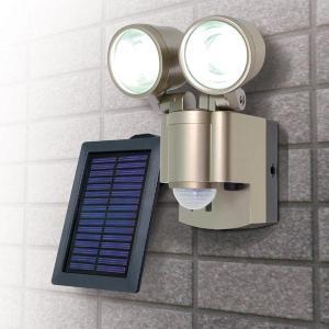 センサーライト 屋外 LED ソーラー 人感/防雨センサーライト [LED×2灯] 防雨 防犯ライト ESL-302SL/ELPA|dentendo