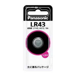 アルカリボタン電池LR43/パナソニック[Panasonic]/即納