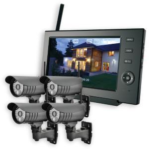 ELPA 防犯カメラ ワイヤレス (無線) セット カメラ4台+モニター1台 スマホ対応 CMS-7...