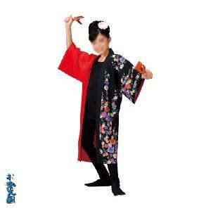 子供用よさこい長半纏 半天 袢天 法被 半被 ポリエステル =よさこい衣装 YOSAKOIソーラン よさこい祭り= (73127)|dento-wako
