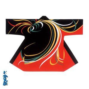 【限定品】長半纏 半天 袢天 法被 半被 綿(黒/赤) =よさこい お祭り衣装= (73230)|dento-wako
