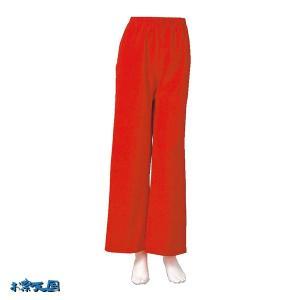 よさこいストレートパンツ 赤 =よさこい衣装 YOSAKOIソーラン よさこい祭り= (76107) dento-wako