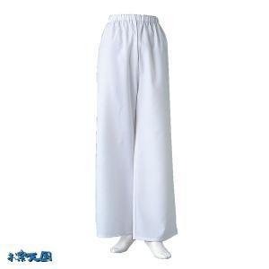 よさこいストレートパンツ 白 =よさこい衣装 YOSAKOIソーラン よさこい祭り= (76106) dento-wako