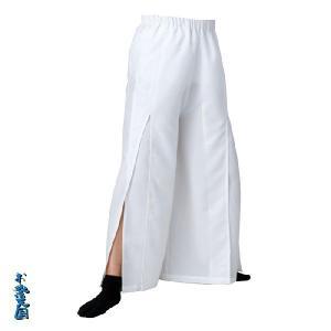よさこいスリットパンツ 白 =よさこい衣装 YOSAKOIソーラン よさこい祭り= (76117) dento-wako