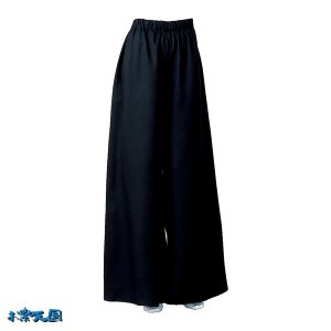 よさこいフレアパンツ 黒 =よさこい衣装 YOSAKOIソーラン よさこい祭り= (76121) dento-wako