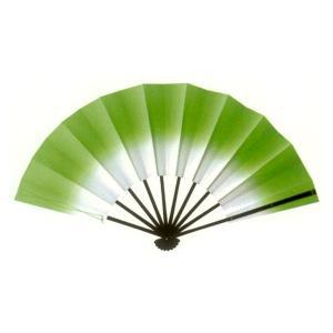 トロピカル演舞扇(グリーン) =よさこい用品 YOSAKOIソーラン よさこい祭り= (76382)|dento-wako