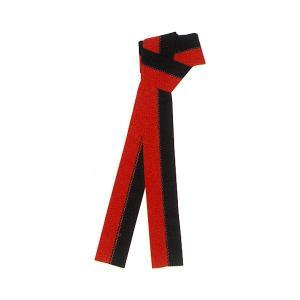 無地半纏帯 カラーボーダー(赤×黒) =よさこい お祭り用品 YOSAKOIソーラン 大祭 祭禮 イベント 半天帯= (76518)|dento-wako