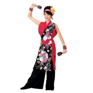 よさこいコスチューム 袖無しブラウス =よさこい衣装 YOSAKOIソーラン よさこい祭り= (73036) dento-wako