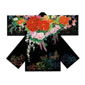 子供用よさこい長半纏 半天 袢天 法被 半被 ポリエステルプリント =よさこい衣装 YOSAKOIソーラン よさこい祭り= (73205)|dento-wako