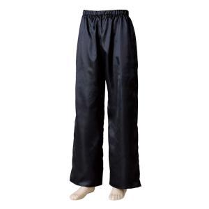 よさこいサテンストレートパンツ 黒 =よさこい衣装 YOSAKOIソーラン よさこい祭り= (76109) dento-wako