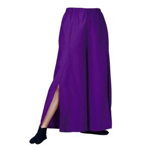 よさこいスリットパンツ 紫 =よさこい衣装 YOSAKOIソーラン よさこい祭り= (76119) dento-wako