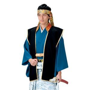 陣羽織 大人用 単衣(黒) =時代劇 武者行列 祭り= (72585)|dento-wako