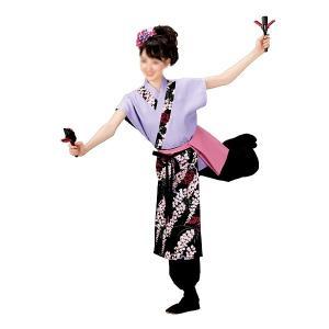 よさこいコスチューム 袖無しブラウス =よさこい衣装 YOSAKOIソーラン よさこい祭り= (73013) dento-wako