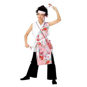 よさこいコスチューム 袖無し打合せ着物 =よさこい衣装 YOSAKOIソーラン よさこい祭り= (73037) dento-wako