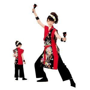 よさこいコスチューム 袖無し打合せ着物 =よさこい衣装 YOSAKOIソーラン よさこい祭り= (73041) dento-wako