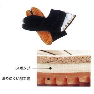 祭ジョグ足袋 6枚甲馳 黒 =お祭り よさこい用品 YOSAKOIソーラン 大祭 祭禮 イベント=|dento-wako