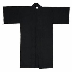 子供用よさこい長半纏 半天 袢天 法被 半被 綿無地 (黒地黒衿) =よさこい衣装 YOSAKOIソーラン よさこい祭り=|dento-wako